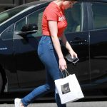 Ariel Winter in a Short Red Tee
