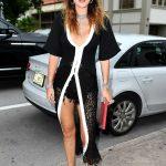 Bella Thorne in a Black See-Through Dress
