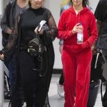 Camila Cabello in a Red Jogging Suit
