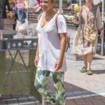 Christina Milian in a White Tee Was Seen Out in Los Angeles 08/10/2019