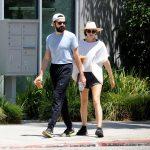 Elizabeth Olsen in a Beige Hat