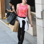 Emma Roberts in a Pink Tank Top