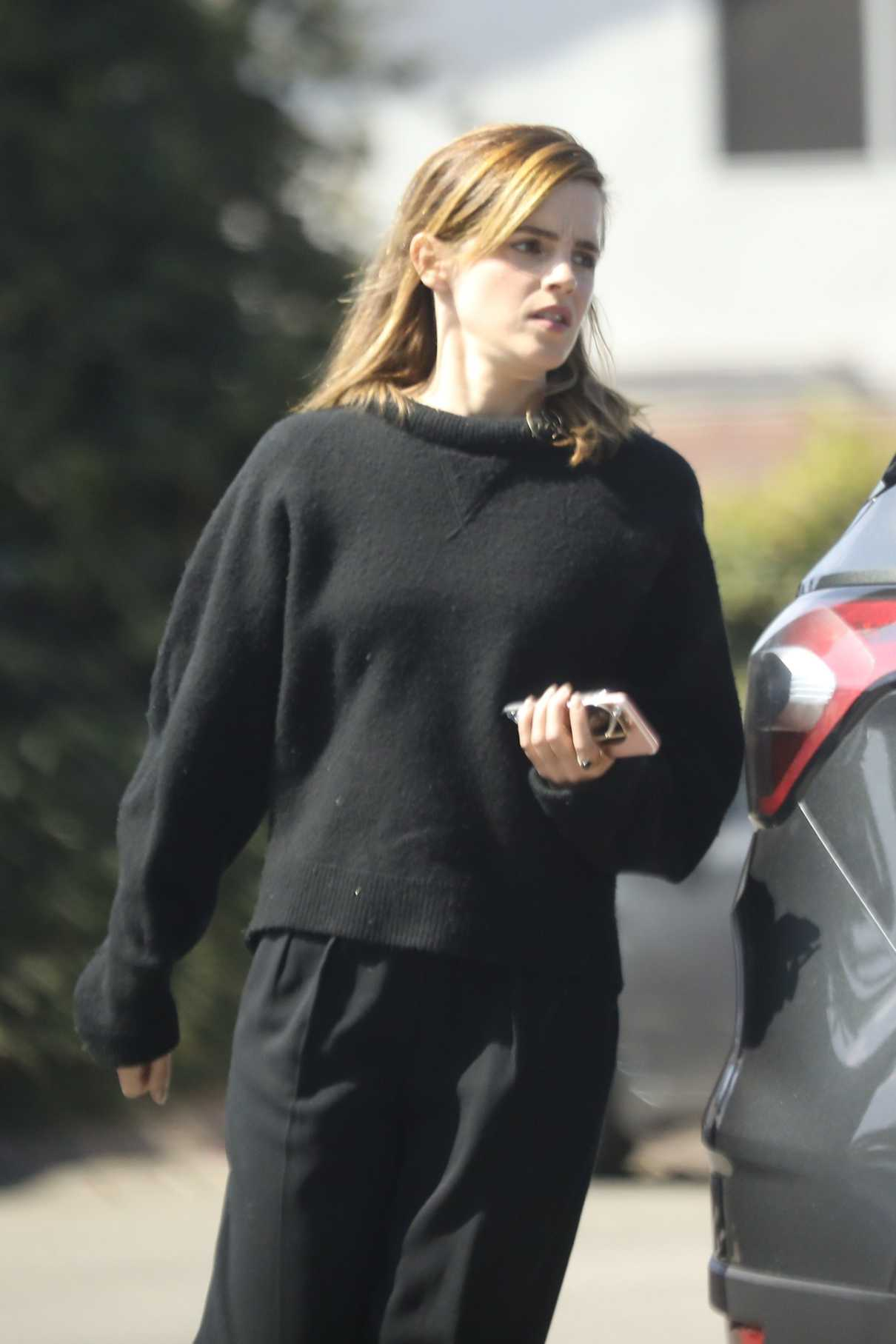 Emma Watson in a Black Sweater