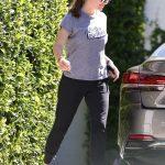 Jennifer Garner in a Gray Tee