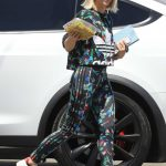 Julianne Hough in a Black Floral Adidas Workout Clothes