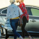 Julianne Hough in a Red Floral Blouse
