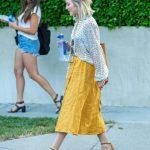 Julianne Hough in a Yellow Skirt