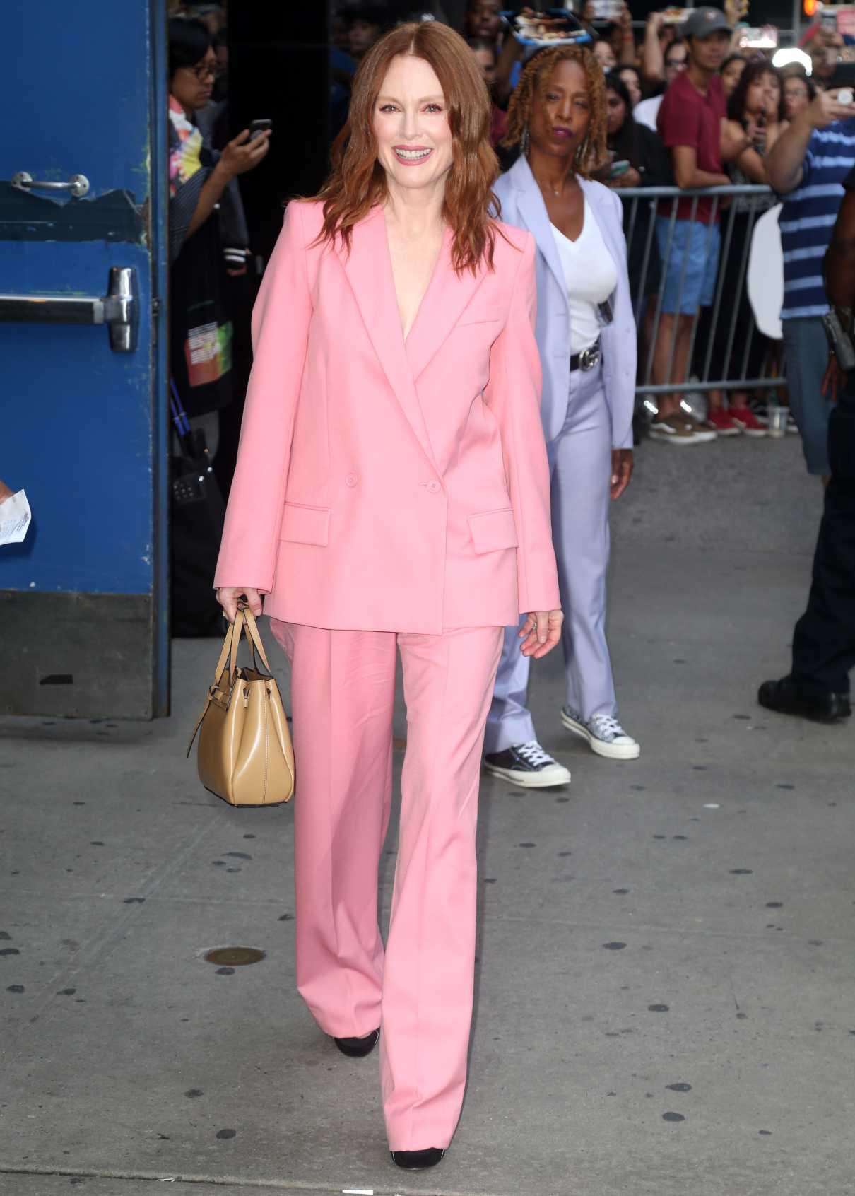 Julianne Moore in a Pink Suit
