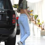 Kendall Jenner in a Green Top