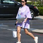 Kim Kardashian in a Purple Oversized Tee