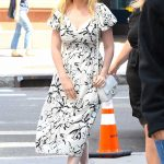 Kirsten Dunst in a White Floral Dress