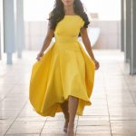 Nicole Scherzinger in a Yellow Dress