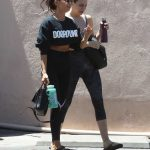 Sarah Hyland in a Black Leggings