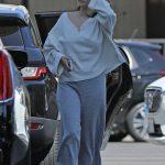 Selena Gomez in a Gray Pants