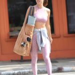 Alessandra Ambrosio in a Pink Workout Clothes