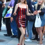 Anna Kendrick in a Short Red Dress