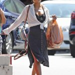 Christina Milian in a White Blouse Was Seen Out in Los Angeles 09/02/2019