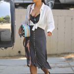 Christina Milian in a White Blouse