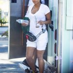 Christina Milian in a White Tee Was Seen Out in Studio City 08/31/2019