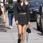 Devon Windsor in a Black Suit Was Seen Out in SoHo, NY 09/09/2019