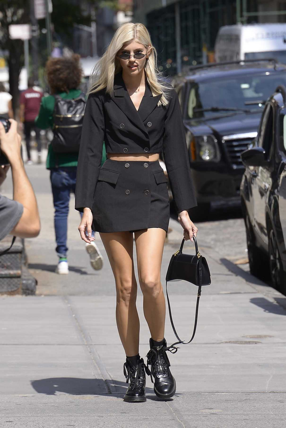 Devon Windsor in a Black Suit