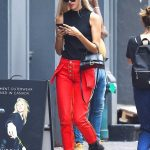 Devon Windsor in a Red Pants