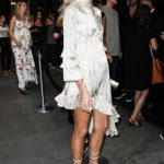 Devon Windsor in a White Dress