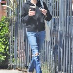 Emma Roberts in a Blue Ripped Jeans