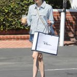 Emma Roberts in a Striped Jacket