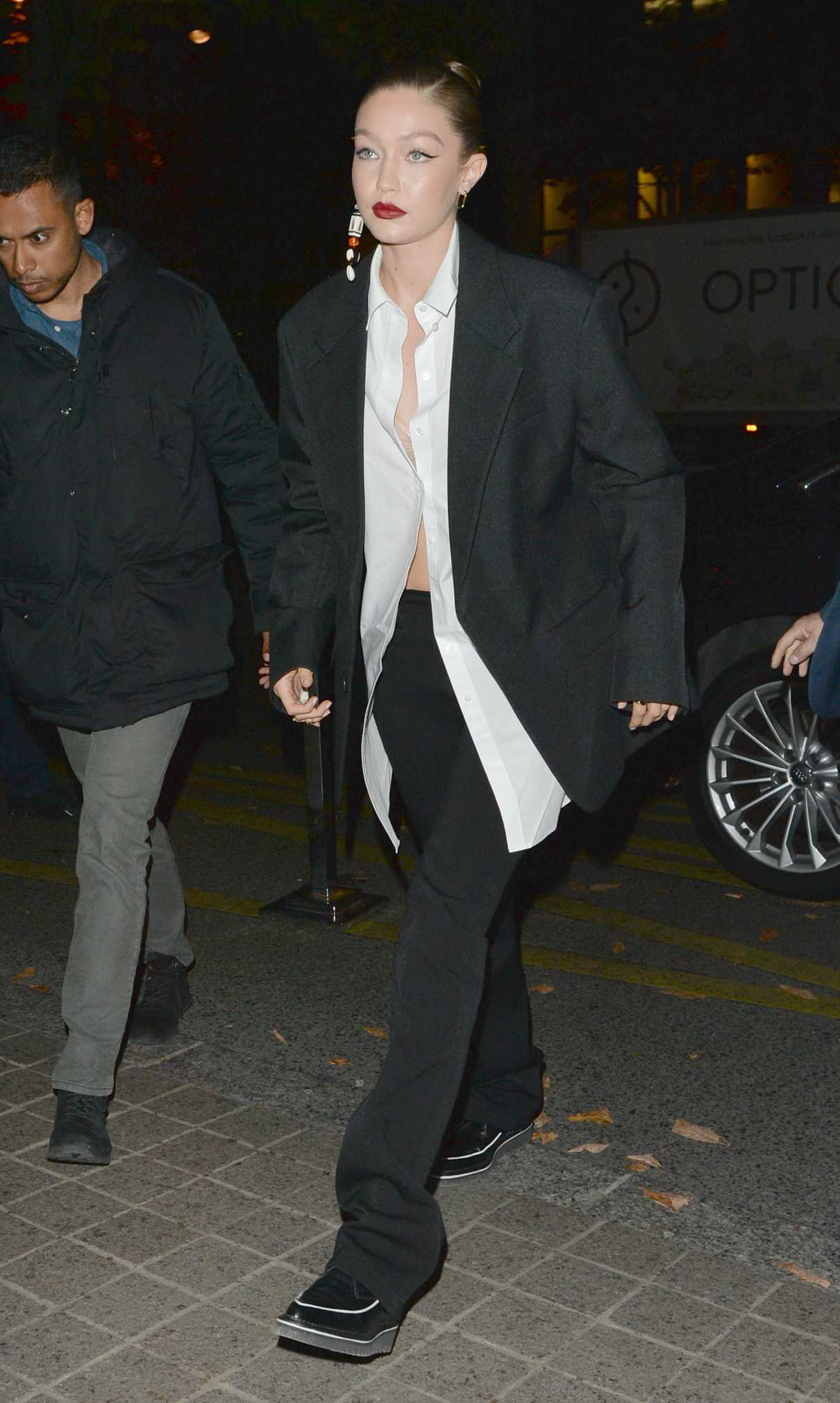Gigi Hadid in a Black Blazer