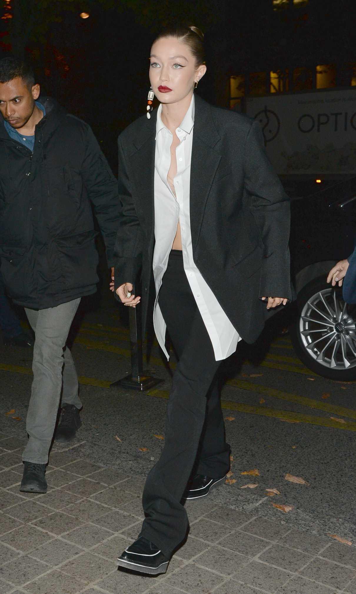 Gigi Hadid in a Black Blazer