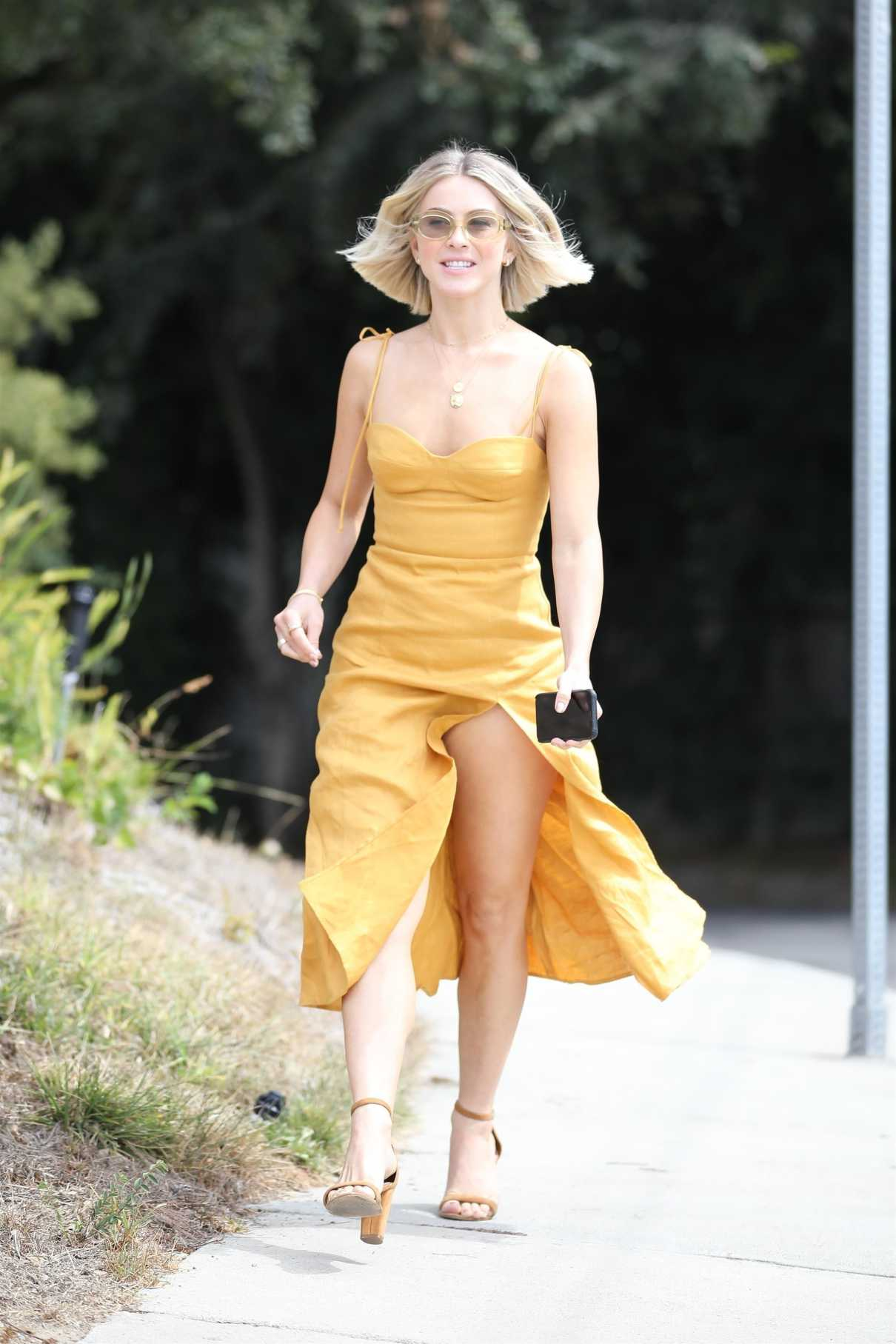 Julianne Hough in a Yellow Dress