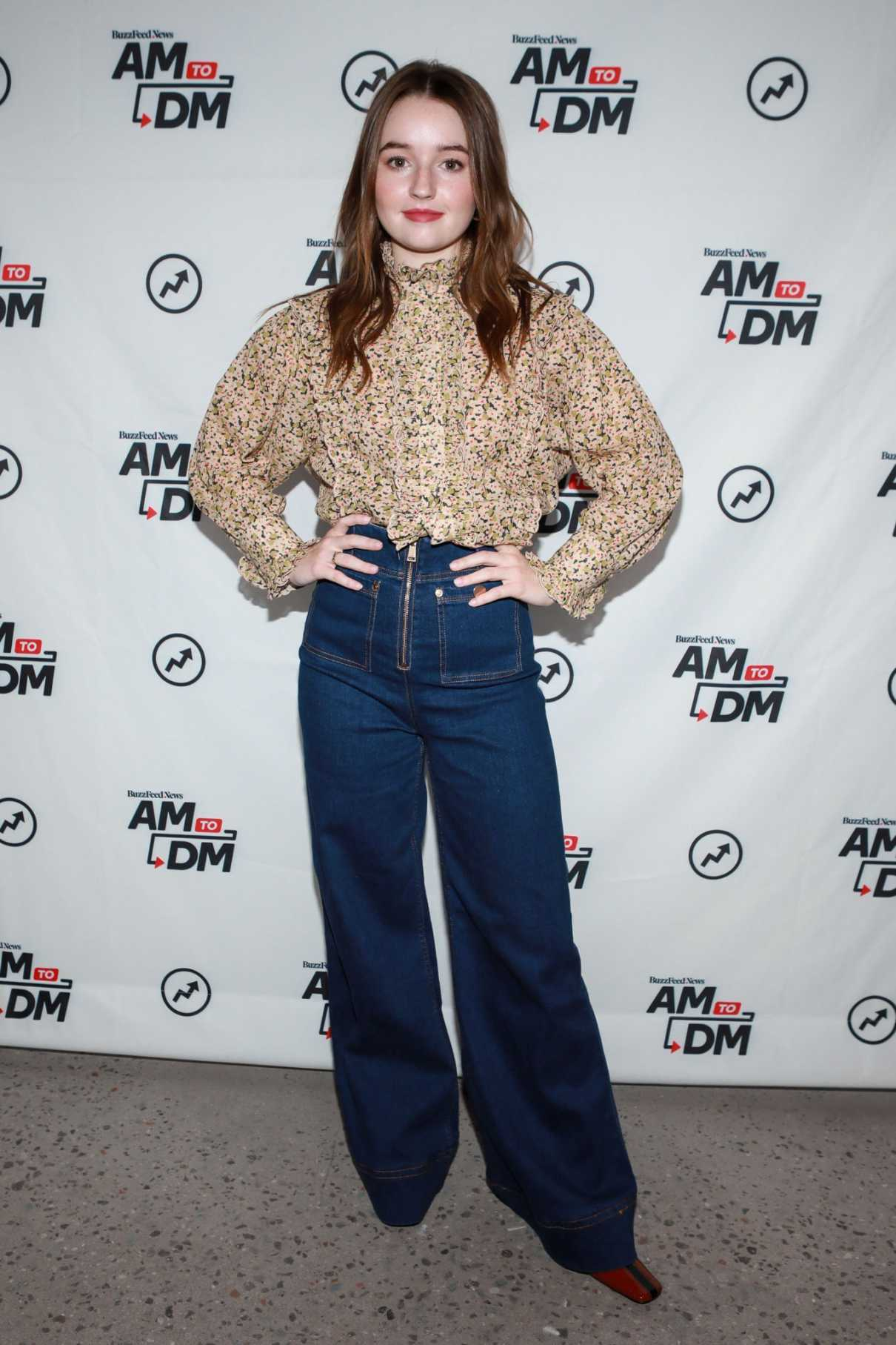 Kaitlyn Dever Visits BuzzFeed's AM To DM in New York City 09/11/2019-1