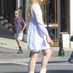 Kathryn Newton in a White Dress Was Seen Out in Beverly Hills 09/17/2019