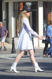Kathryn Newton in a White Dress