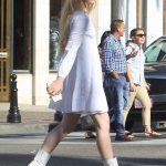 Kathryn Newton in a White Dress