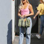 Khloe Kardashian in a Purple Blouse