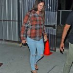 Lana Del Rey in a Plaid Shirt Leaves Church Service in Beverly Hills 08/29/2019