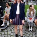 Maisie Williams Attends the Thom Browne The Officepeople Performance Installation During New York Fashion Week in New York 09/07/2019
