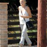 Malin Akerman in a White Blouse