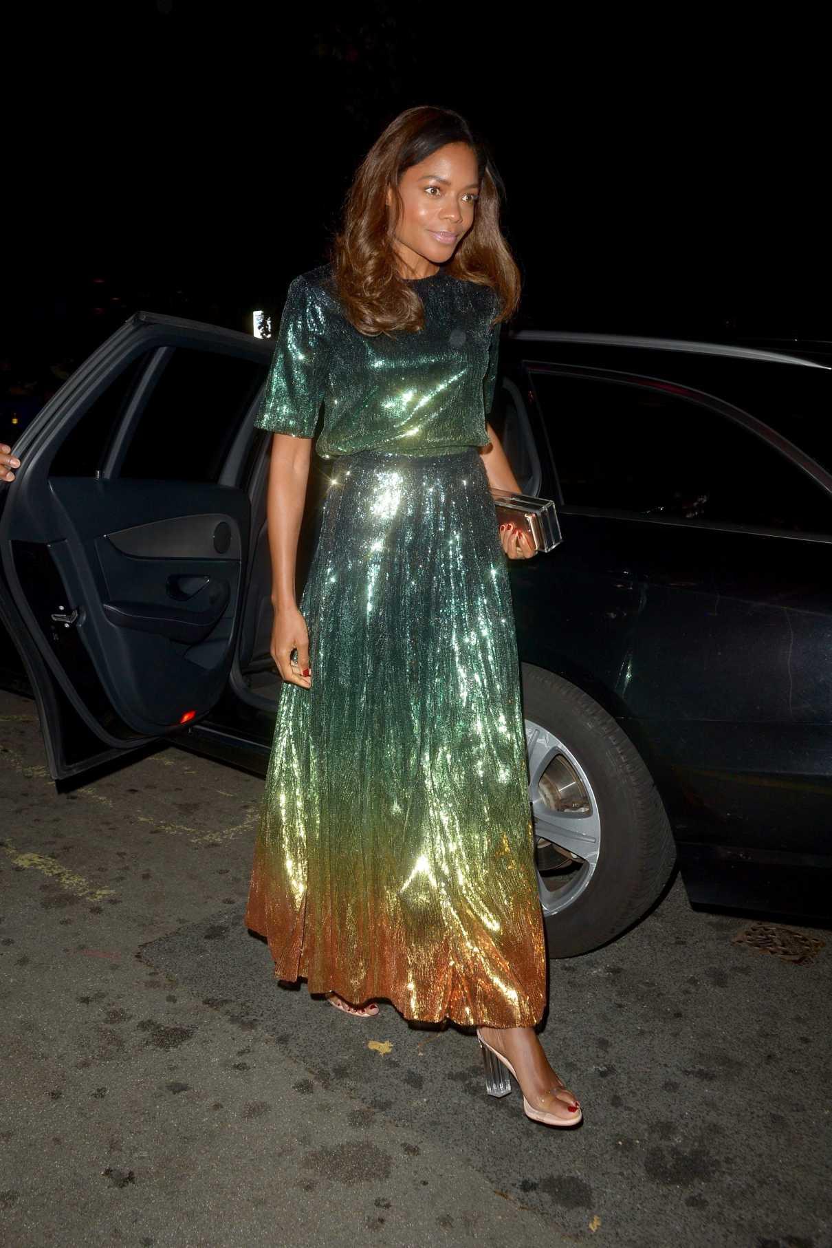 Naomie Harris in a Green Dress