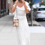 Nicole Scherzinger in a White Dress