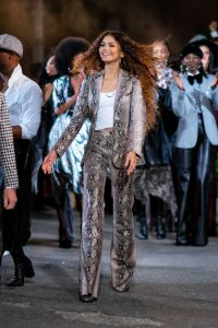 Zendaya in a Snakeskin Suit