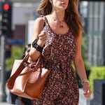 Alessandra Ambrosio in a Floral Jumpsuit