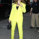 Alyssa Milano in a Yellow Suit
