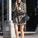 Camila Mendes in a White Sneakers Was Seen Out in NY 10/23/2019