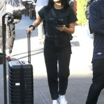 Camila Mendes in a White Sneakers Was Seen Out with Luggage in NY 10/23/2019