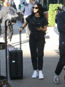 Camila Mendes in a White Sneakers