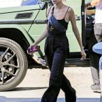 Hailey Baldwin in a Black Top Arrives at Nine Zero One Salon in West Hollywood 10/15/2019