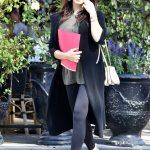 Jenna Dewan in a Black Coat